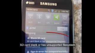 "How to fix ""SD card blank or has unsupported filesystem"" format failed error on android mobile"