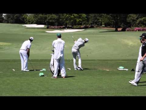 Dustin Johnson: On The Range - The Masters @ Augusta National