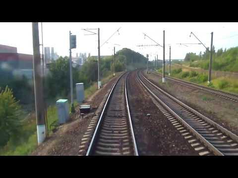 москва павелецкий вокзал - мкад (2010 г.) вид из последнего вагона (2х скорость)