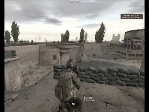 """Arma 2- Sangin  Afghanistan """"Hold The Line"""" Defend Intense Heavy Firefight"""