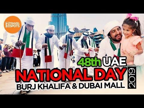 UAE National Day 2019 | National Day Celebration@Dubai Mall | Burj Khalifa National Day Celebration