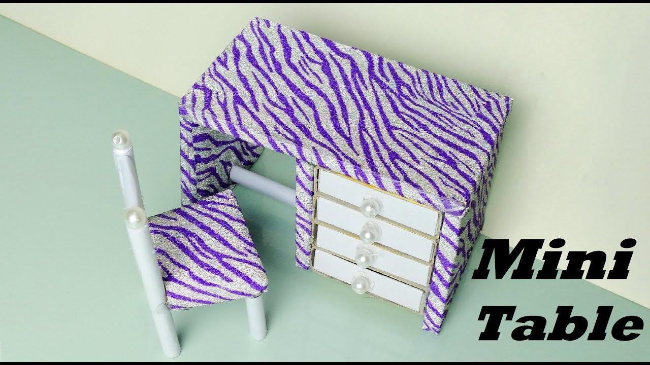 How To Make Mini Table Matchbox Craft