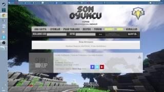 SonOyuncu-MineCraft Skin Değiştirme ve Kayıt Olma