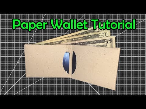 How to Make a Slim Paper Wallet | Easy Origami