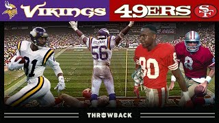 The GREATEST Playoff Upset! (Vikings vs. 49ers 1987 NFC Divisional)