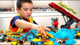 Jack Jack Plays with Matchbox and Tonka Trucks - Digging for Real Sapphires!