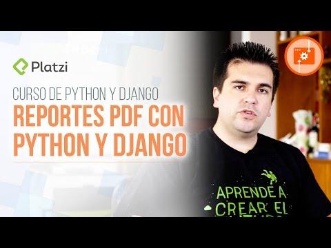 Generar reportes en PDF con Python y Django