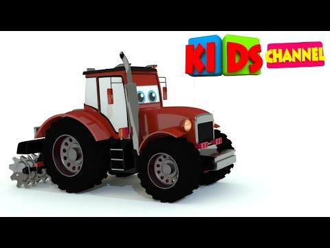 kids channel | farm vehicles for children | 3D learning videos | cartoon tractor