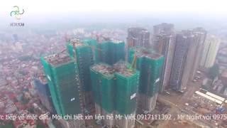 Flycam trực tiếp lễ cất nóc tòa Sapphire 1 - Goldmark city 136 Hồ Tùng Mậu
