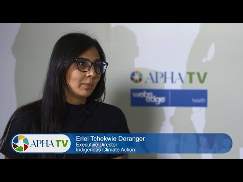 Eriel Tchekwie Deranger on indigenous health and climate change at APHA 2017