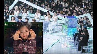 TXT and ITZY Reaction to Na Haeun Dancing To Best Female Dance Nominees MMA 2019