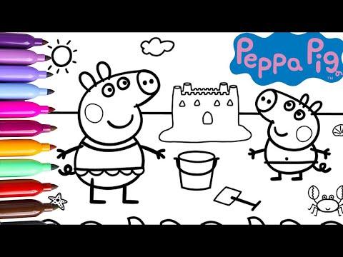 peppa-pig-|-dibujos-para-colorear-|-videos-para-niños