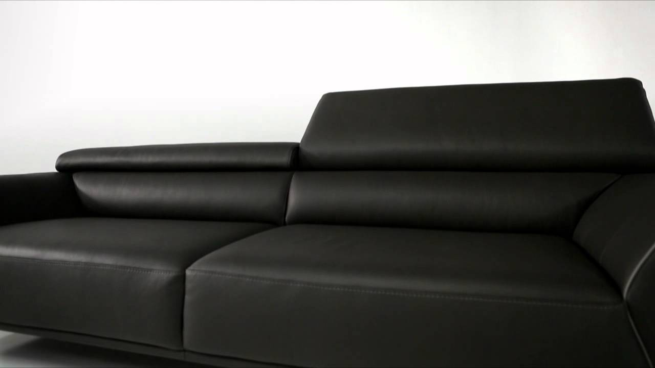 Grand canap 3 places roman youtube - Roche bobois canape cuir ...