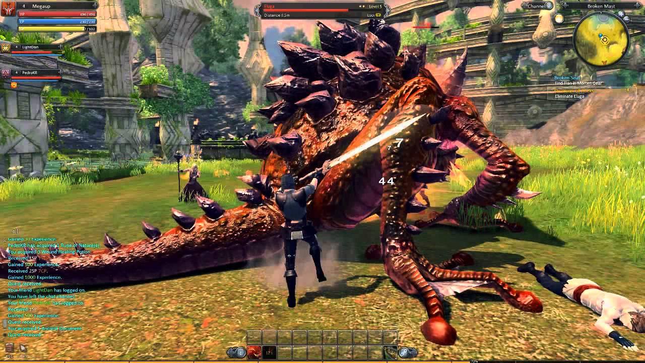 RaiderZ - Gameplay #2: Jugando un poco - YouTube