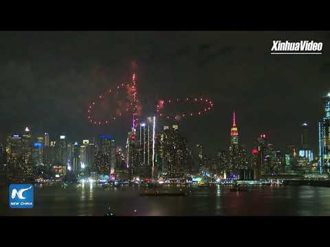 New York fireworks display welcomes Chinese Lunar New Year