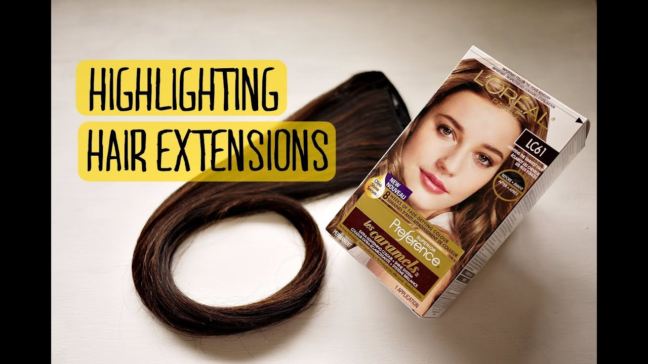 How To Highlight Your Hair Extensions Youtube