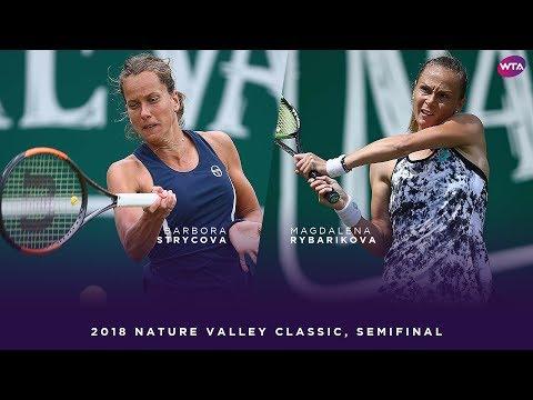 Barbora Strycova vs. Magdalena Rybarikova | 2018 Nature Valley Classic Semifinals | WTA Highlights