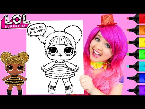 Coloring LOL Surprise Dolls Queen Bee Glitter Coloring Page Prismacolor Markers | KiMMi THE CLOWN