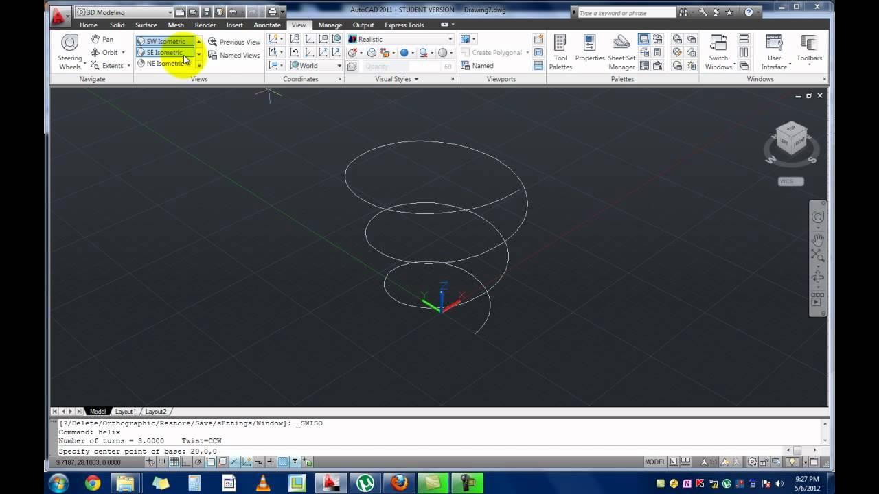 AutoCAD 2011 - 3D Helix