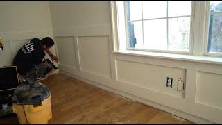 Installing wainscot around a window