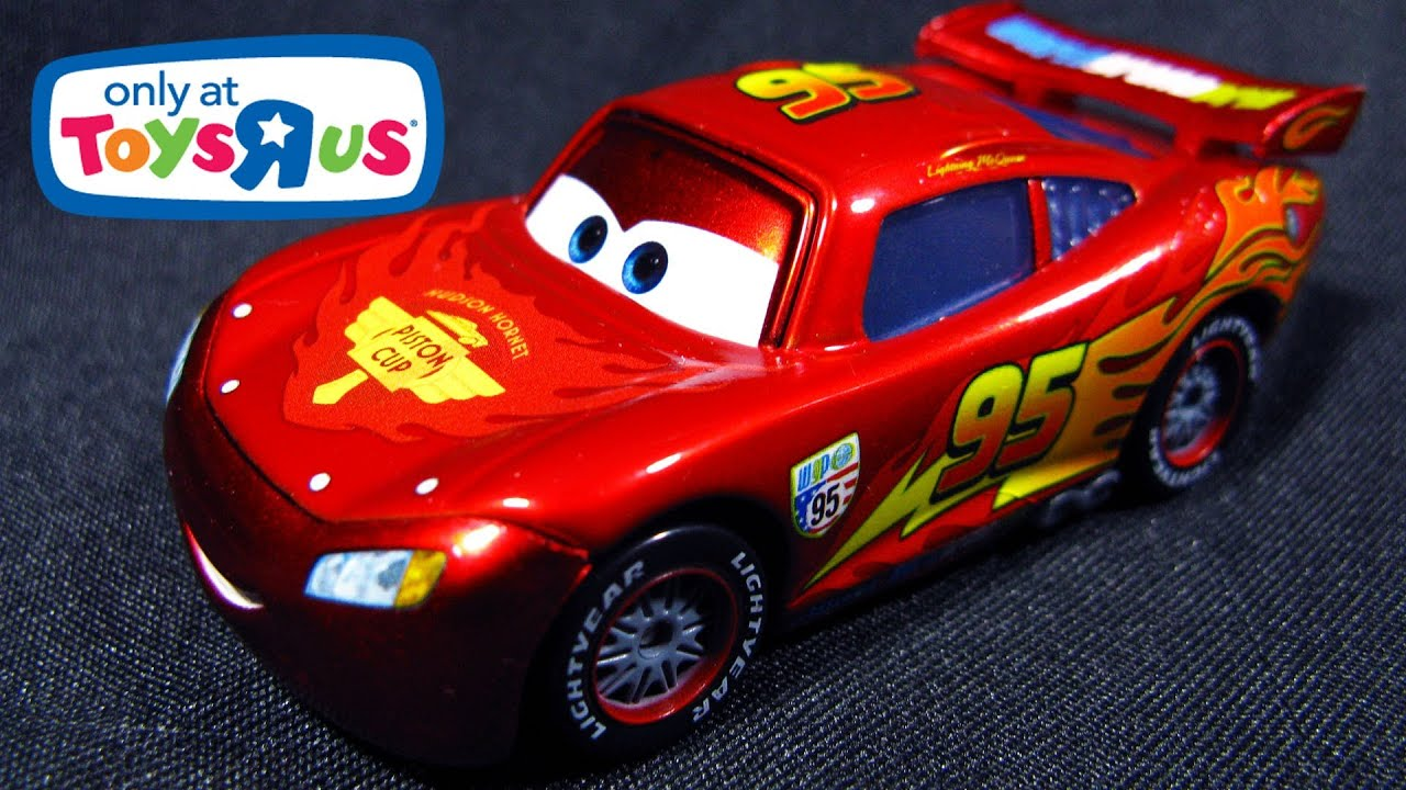 Toys R Us Cars : Lightning mcqueen with metallic finish ransburg cars