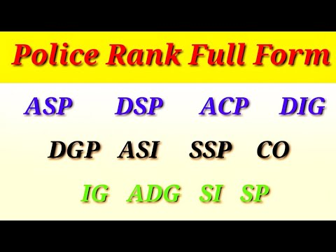 Police Rank - Full Forms