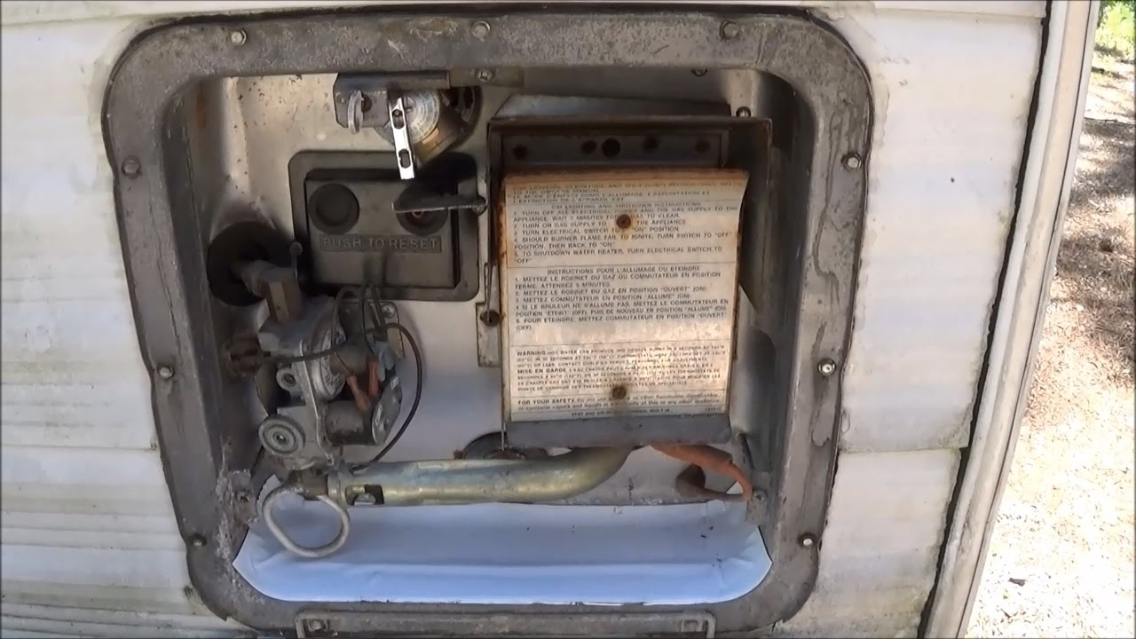 Replacing Dripping Hot Water Heater Valve on a Travel Trailer RV Camper  Fifth Wheel