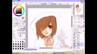 Repeat youtube video Me painting ''A Girl and A Cat'' (HD)