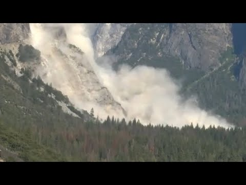 Second rockfall in Yosemite injures one person – video report