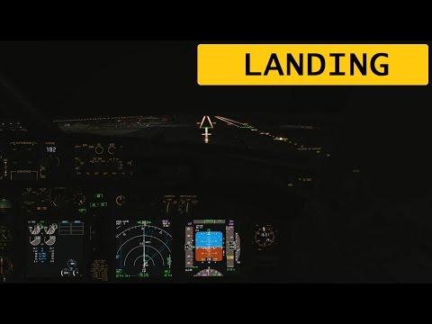 FSX PMDG 737 Antalya[LTAI] Final Approach and Landing / First Officer Chair [F/O]