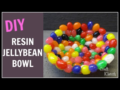 Jelly Bean Resin Bowl Easter Craft Tutorial