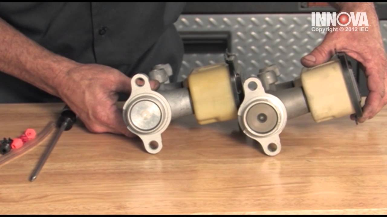 how to change brake master cylinder and bench bleed the assembly [ 1280 x 720 Pixel ]