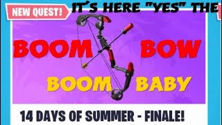 """NEW"" BOOM BOW FORTNITE STW/ 14 DAYS OF SUMMER"