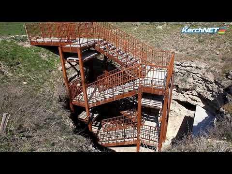 Керчь: Подрядчик построил лестницу в подземелья Аджимушкая