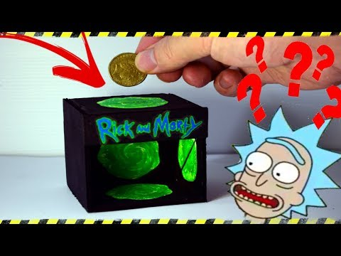 Magic Coin Box bank Made From Cardboard