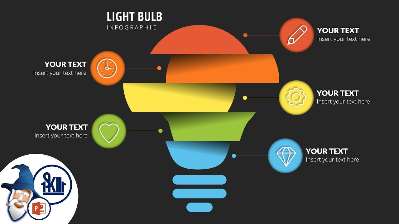 design  u0026 animate light bulb infographics in powerpoint