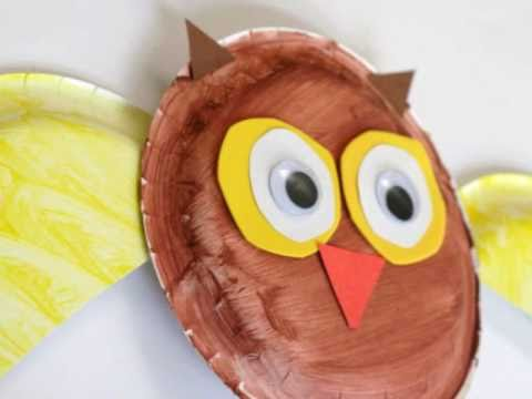 Preschool Paperplate Art - Owl : paper plate owl project - pezcame.com