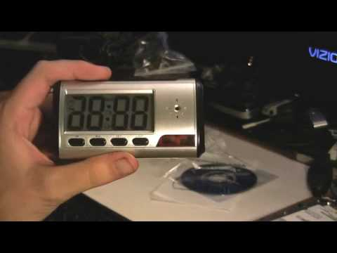 Spy Clock Security Hidden DVR Camera Motion Detector DV