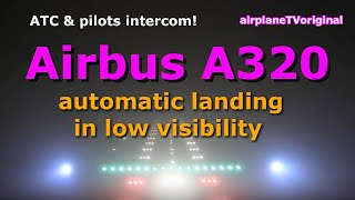 Airbus A320 pilots' view ILS Approach CAT III LOWW-VIE in bad weather thumbnail