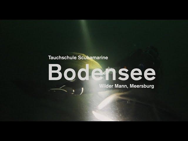 Tauchgang am Wilden Mann in Meersburg. Fontäne und Autowracks.