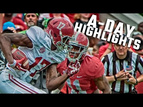 Alabama 2016 A-Day spring game highlights