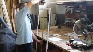 moskitnaya setka video 2014 0609(Изготовление и сборка москитной сетки ANVUS (анвис) на пластиковые окна от