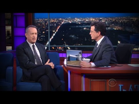 Tom Hanks talks about Wright State with Stephen Colbert
