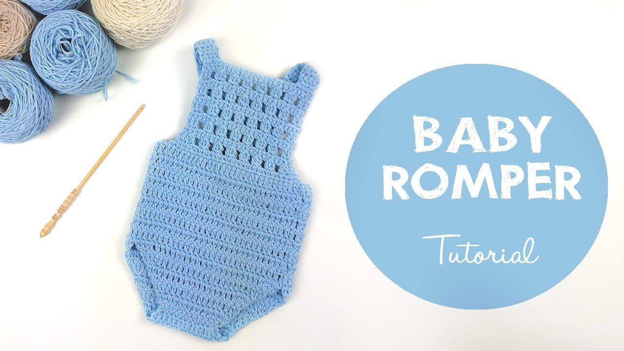 6567c8517f1b How To Crochet Baby Romper   Onesie