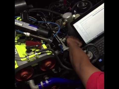 Cosworth YB first start up ECU MASTER