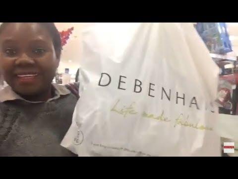 Going shopping in Debenhams