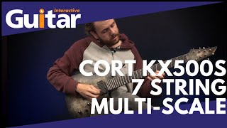 Cort KX500S Stardust Black 7 String Multi-Scale Guitar | Review