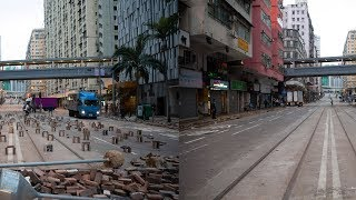 HK residents clean up blockades left by rioters 暴力騷亂過後 香港市民自發清理路障