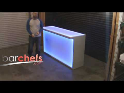 Retail Light Up Reception Desk with LED brandable panels