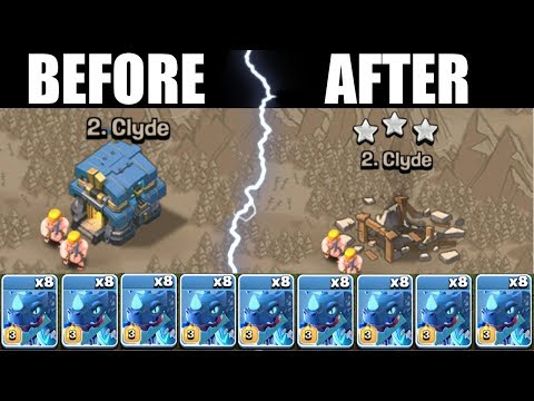 BEFORE vs AFTER ELECTRO DRAGONS......Clash Of Clans